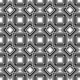 Seamless geometric pattern, black and white simple vector backgr Stock Photos