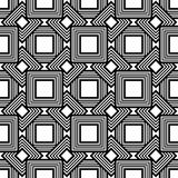 Seamless geometric pattern, black and white simple vector backgr Royalty Free Stock Image