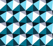 Seamless geometric pattern. Blue abstract triangle geometrical background. Stock Photography