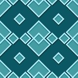 Seamless geometric pattern. Blue green 3d design. Vector illustration Royalty Free Stock Image