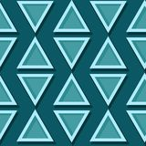 Seamless geometric pattern. Blue green 3d design. Vector illustration Stock Photography