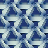 Seamless geometric pattern with blue ribbons texture. Royalty Free Stock Photography