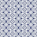 Seamless geometric pattern in blue spectrum Royalty Free Stock Images