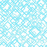 Seamless geometric pattern in blue and white colors. Vector Royalty Free Stock Images