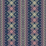 Seamless geometric pattern in boho chic style. Seamless geometric pattern, boho chic style. Yellow, blue, pink colors. Ethnic motifs Royalty Free Stock Images