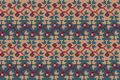 Seamless geometric pattern in the boho style. Slavonic motif. Traditional national motives of the Slavic peoples. Stock Photo