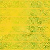 Seamless geometric pattern in boho style. Yellow watercolor shad Stock Photo