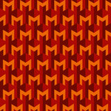 Seamless geometric pattern on brown background Stock Images