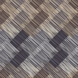 Seamless geometric pattern. Brown floor with wooden texture. Asian Mat. Scribble texture. Textile rapport stock illustration