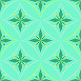 Seamless geometric pattern, circle and shape of rhombus on a green background Stock Photography