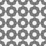 Seamless geometric pattern of circles on a gray background. Stock Photo