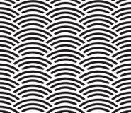 Seamless geometric pattern of circles. Marine background Royalty Free Stock Photo