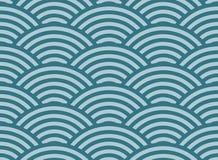 Seamless geometric pattern of circles. Marine background Royalty Free Stock Photography