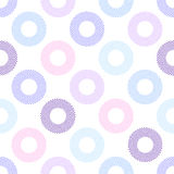 Seamless geometric pattern with circles Royalty Free Stock Photos