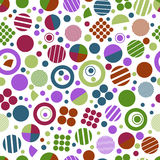 Seamless  geometric pattern with circles for tissue and postcards. Stock Image