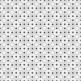 Seamless geometric pattern of circles on a white background Royalty Free Stock Photo
