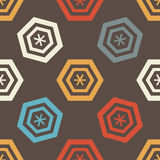 Seamless geometric pattern with colored hexagonal frames. Vector. Illustration Stock Illustration
