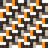 Seamless geometric pattern. Colored rectangles. Vector. Stock Photo
