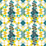 Seamless geometric pattern colorful background of small pixels. (vector eps 10 Royalty Free Stock Photo
