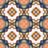 Seamless geometric pattern of colorful kaleidoscope Stock Photography