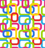 Seamless Geometric Pattern with Colorful Rectangles Royalty Free Stock Photography