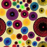 Seamless geometric pattern with colorful rosette Stock Photography