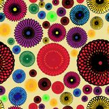 Seamless geometric pattern with colorful rosette Royalty Free Stock Photos