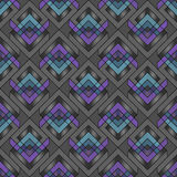 Seamless geometric pattern. Seamless pattern composed of rhombuses stock illustration