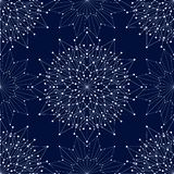 Seamless geometric pattern with connected lines and dots. Vector illustration royalty free stock photo