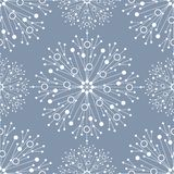 Seamless geometric pattern with connected lines and dots. Vector illustration royalty free stock image
