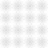 Seamless geometric pattern, consisting of flowers in black and white. Vector illustration Stock Photo