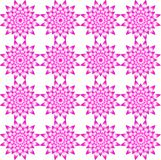 Seamless geometric pattern, consisting of flowers of pink color. Vector illustration Royalty Free Stock Photo