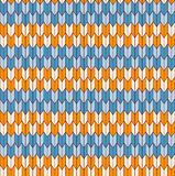 Seamless geometric pattern. Cream yellow blue pattern Stock Illustration
