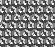 Seamless geometric pattern with cubes. Stock Photo