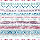 Seamless geometric pattern. Cute vintage ornament. Striped print Stock Photo