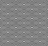 Seamless geometric pattern. 3D illusion. Royalty Free Stock Photography