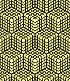 Seamless geometric pattern. 3D illusion. Stock Image