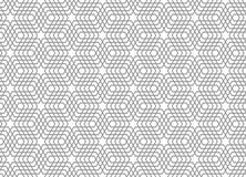 Seamless geometric pattern. 3D illusion. Stock Photos