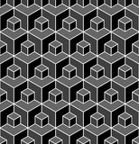 Seamless geometric pattern. 3D illusion. Seamless geometric hexagons pattern. 3D illusion. Vector art vector illustration