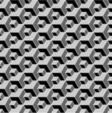 Seamless geometric pattern. 3D illusion. Seamless geometric hexagons pattern. 3D illusion. Vector art royalty free illustration