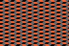Seamless geometric pattern. 3D illusion. Royalty Free Stock Image