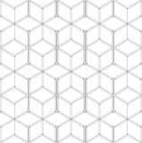 Seamless geometric pattern. 3D wireframe structure. Royalty Free Stock Images