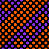 Seamless geometric pattern diagonal stripes of circles. Seamless geometric pattern diagonal stripes of circles on a black background. Vector illustration Royalty Free Illustration