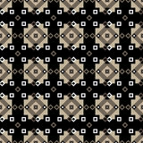 Seamless geometric pattern of diamonds and squares in brown. Seamless geometric pattern. Diamonds and squares in brown on a black background. Vector Stock Photography