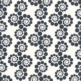 Seamless geometric pattern dots around . Can be used for backgrounds and page fill web design. Vector illustration Stock Photography