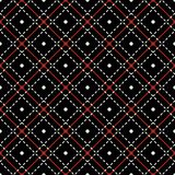 Seamless pattern with intersecting stitching lines and dots Royalty Free Stock Photography