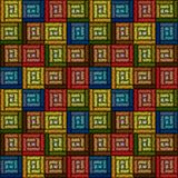 Seamless geometric pattern embroidery. Royalty Free Stock Images