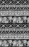 Seamless geometric pattern. Ethnic aztec tropical birds tribal floral background Stock Images