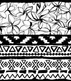 Seamless geometric pattern. Ethnic aztec tropical tribal floral flowers background Royalty Free Stock Photography