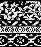 Seamless geometric pattern. Ethnic aztec tropical tribal floral flowers background Stock Images